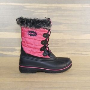 Quest Girls Powder Pink Thinsulate Winter Boots